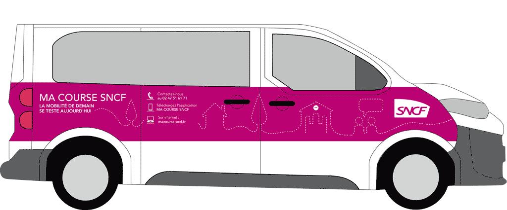 Signaletique voiture - Ma Course SNCF